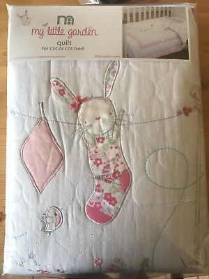 Mothercare My Little Garden Quilt For A Cot Or A Cot Bed