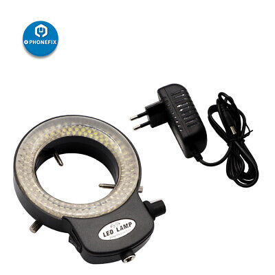 Adjustable 144-LED Bulb Microscope Ring Light Illuminator Lamp US / UK / EU Plug