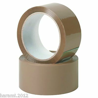 6-36 Casters Adhesive Tape Quiet Rollable 66m 50mm Packing Brown
