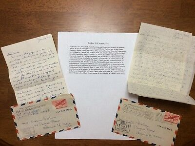 WWII Army Censored Letters England Hospital American Red Cross Patton 3rd Army