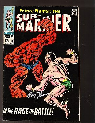 Submariner 8 Fvf Signed Roy Thomas White Pages Higher Grade
