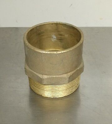 """2"""" Brass Male Adapter MIP x C Sweat Fitting NOS"""