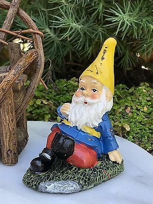 Miniature Dollhouse FAIRY GARDEN Accessories ~ Mini Gardening Gnome Relaxing NEW