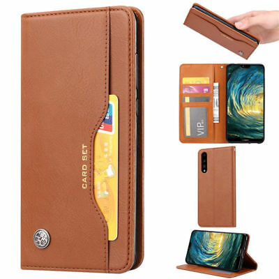 For Huawei Mate 20 Pro Lite P20 Pro Leather Card Wallet Magnetic Flip Case Cover