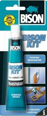 BISON KIT TRANSPARENT CONTACT ADHESIVE WATER RESISTANT GLUE INVISIBLE 50 ml TUBE