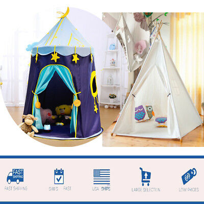 Portable Princess Castle House Indoor/Outdoor Kids Play Tent for Girls Boys TOP