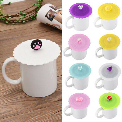 Silicone Anti-Dust Reusable Leakproof Sealed Coffee Tea Mug Cup Cover Lid Cap