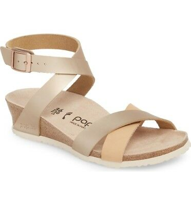 a112e366cb4 NIB Papillio by Birkenstock Lola Leather Sandals Frosted Metallic Rose  1008935