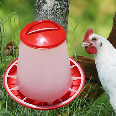 4DFA D82C Chicken Quail Poultry Chick Hen Drinker Food Feeder Waterer Pet Supply