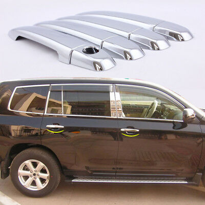 DZ995 Chrome Door Handle Catch Covers fit for TOYOTA Camry Highlander 2008-2010☆