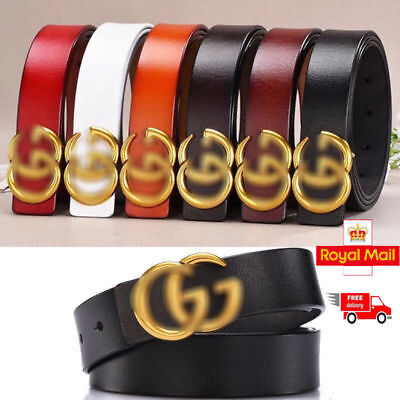 Fashion Ladies Genuine Leather Belts Jeans Belt With Letter G Buckle 2.3-3.8cm