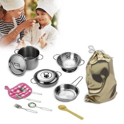 12pcs/Set Pots And Pans Kitchen Utensils Cookware For Children Pretend Play Toy