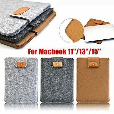 Soft Ultrabook Laptop Sleeve Case Cover Bag for Macbook Air 11/13/15inch LOT MA