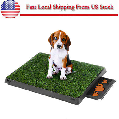 Removable Puppy Pet Potty Training Pee Indoor Toilet Dog Grass Pad Mat with Tray
