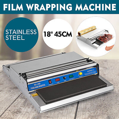 """18"""" Food Tray Film Wrapper Wrapping Machine Sealer Cling Fresh Stretcher NEWEST"""