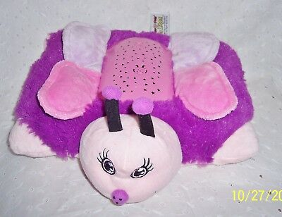 "Dream Lites Purple Fluttery Butterfly Pillow Pets 11"" Baby Crib Plush Toy"