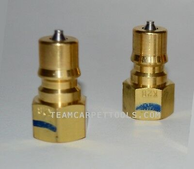 "Carpet Cleaning FOSTER 1/4"" Brass w/ SS Poppet Quick Disconnect Male QD 2 pcs"