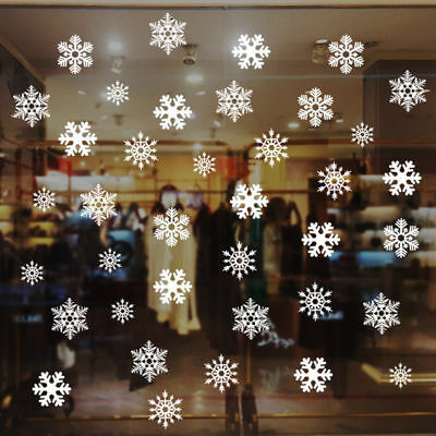 Snowflakes Stickers Christmas Glass Card Making Wall Sticker Party Home Decor