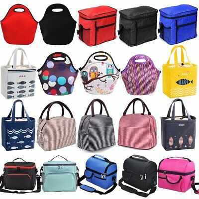 Portable Thermal Cooler Waterproof Insulated Lunch Carry Picnic Storage Bag Case