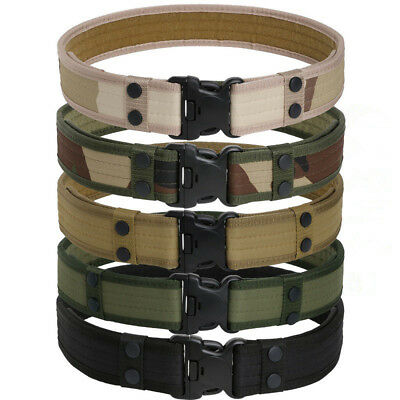 Military Tactical Outdoor Belt Men's Hiking Sports Combat Army Waistband Buckle