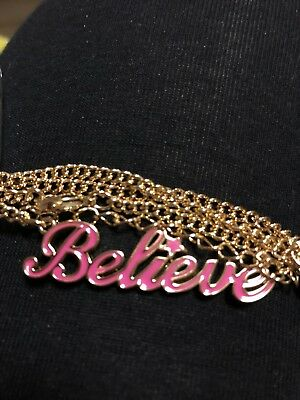 Disney Couture Pink Believe Necklace
