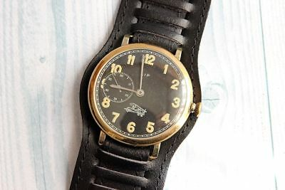 LIP Military Aviator WWII FRANCE Vintage men's Mechanical Wristwatch Servised