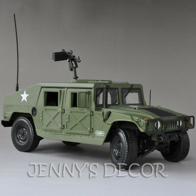 1:18 Diecast Car Model Toys Hummer H1 Military SUV Tactical Vehicle Replica