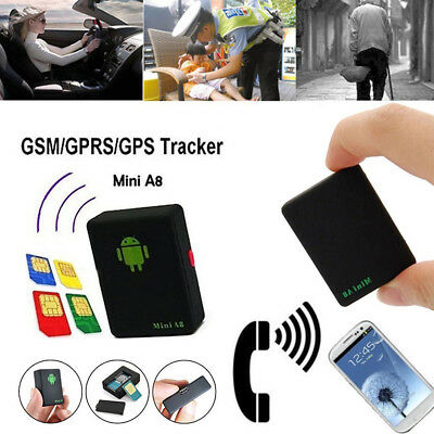 1X Black Mini A8 Realtime USB GPS Spy Tracker Car Global GSM/GPRS Locator Device