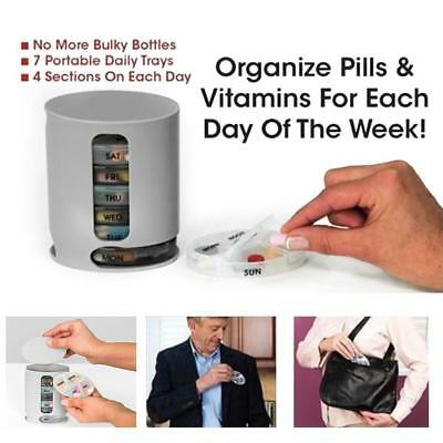 Pill Pro Case Medicine Organizer Weekly Daily Containers Protable Storage box