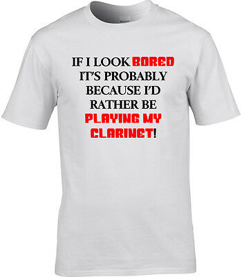 45725810b Clarinet Mens T-Shirt I'd Rather Be Funny Gift Idea Music Orchestra  Classical