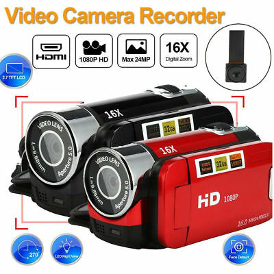 "Full HD 1080P 2.7"" LCD TFT Touchsn Digital Video Camera Camcorder DV 16X Zoom ST"