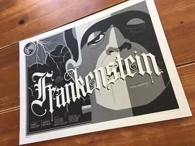 Tom Whalen Universal Monsters Frankenstein (Variant!) Screen Print! $75 Obo!!