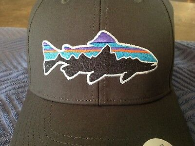533c1d60591 PATAGONIA FITZ ROY TROUT STRETCH FIT HAT CAP S M SOLD OUT COLOR! NWT