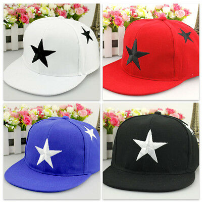 Kids Child Star Print Snapback Baseball Ball Cap Outdoor Sports Hats Adjustable