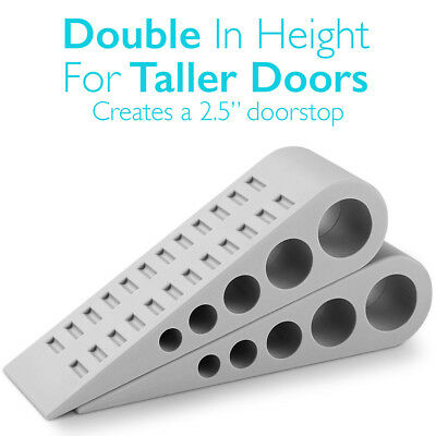 Heavy Duty Extra Large Wide Door Wedge Stopper Rubber Floor Home Holder Pack