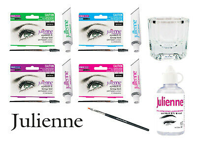 Julienne Professional Intensive Eyelash Dye, Eyebrow Tint Lash Kit - All Colours