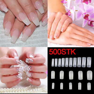 500er Nagel Tips Kunstnägel Fingernägel Nailart Nagel Design DIY 10 Größen