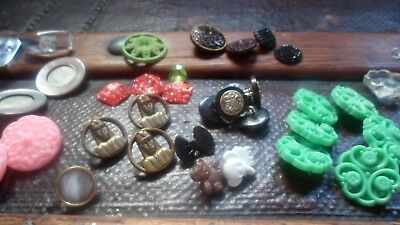 collection of vintage antique buttons