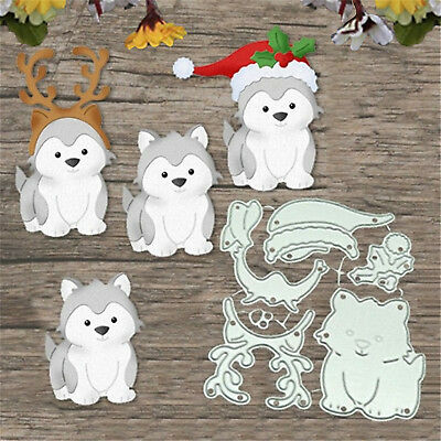 Christmas Dog Metal Cutting Dies Scrapbook Album Paper Card Embossing Craft TY