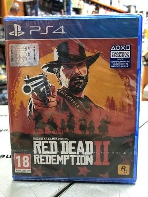 Red Dead Redemption 2 Ita PS4 NUOVO SIGILLATO