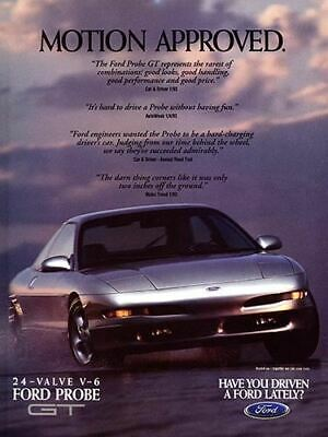 1993 Ford Probe GT #6 Vintage Car Poster Print Wall Art Sign Auto Garage Banner