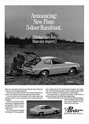 1971 Ford Pinto Runabout #101479 Vintage Car Poster Print Art Sign Auto Garage