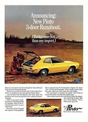 1971 Ford Pinto Runabout #101478 Vintage Car Poster Print Art Sign Auto Garage
