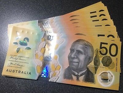 🇦🇺 Brand New 2018 $50 Dollars 2018 General Prefix UNC Notes💰Collect AUS 💵