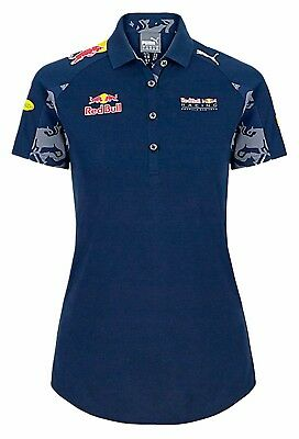 Red Bull F1 Formula One Racing Women's Ladies Polo Shirt Blue Tag Heuer RRP £65