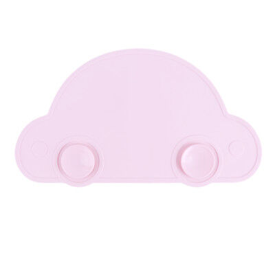 Car Shape Baby Silicone Plate Sucker Placemat Antislip Snack Mat Food Tray N7