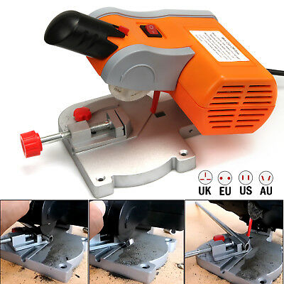Mini 90W Table Top Cut Off Miter Saw for Precision Cut Metal Wood Frame Molding
