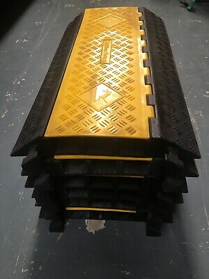 Heavy Duty Interconnecting 3 Channel Cable/Hose Protector/speed bump.