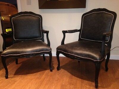 2 Reproduction Louis XIV Style Chairs