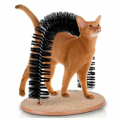 Cat Self Groomer Arch Pet Round Fleece Base Toy Brush Toys Scratching Device